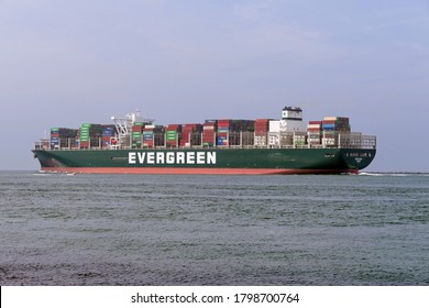 The container ship Ever Glory will leave the port of Rotterdam on July 18, 2020.