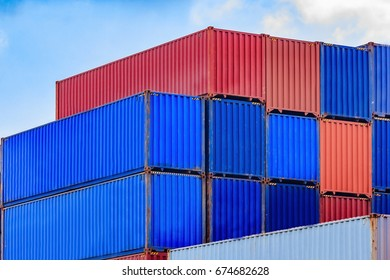 container, container ship in import export and business logistic, Trade Port, Shipping, cargo to harbor for Logistic Import Export business.