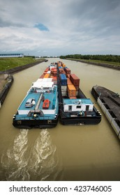 container ship inland waterway transportation
