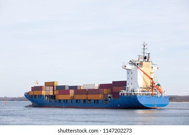 Container ship on the Baltic Sea