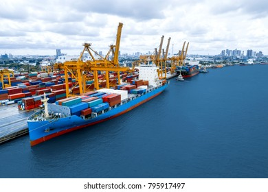 Container ship. The projects underway at major ports in Thailand is expected to boost the Thailand shipping industry, Over the years, cargo handled at major ports in Thailand have grown considerably.
