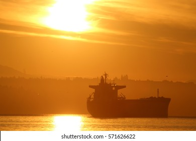 Container Ship Sunrise (Close Up)
