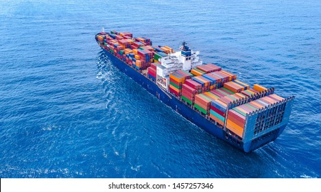Container Ship Vessel Cargo Carrier - Shutterstock ID 1457257346