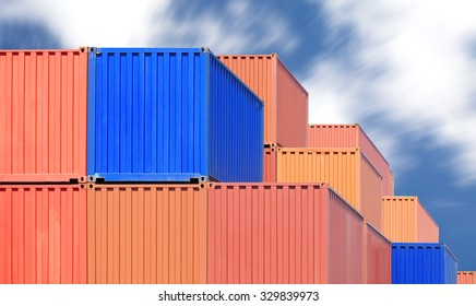 Container shipping at dockyard