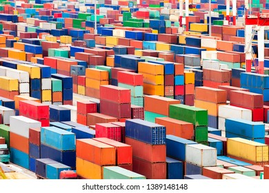 Container terminal with freight containers