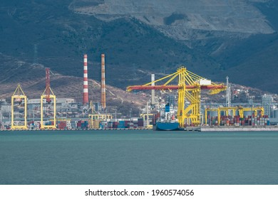 Container terminal in port of Novorossiysk