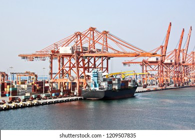 Container Terminal , Port Salalah, Oman, Indian Ocean
