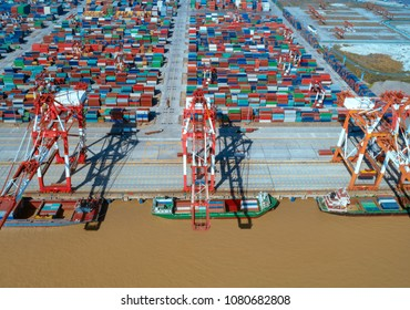 Container terminal in shanghai yangshan deep water port, China