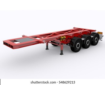 Container Trailer 3d rendering