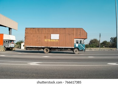 Container Truck on highway