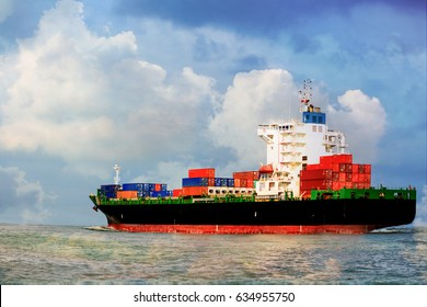 container,container ship in import export and business logistic,By crane ,Trade Port , Shipping,cargo to harbor