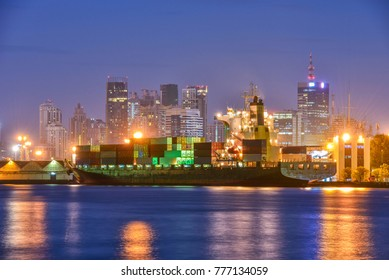 container,container ship in import export and business logistic
