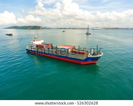 Containercontainer Ship Import Export Business Logistic