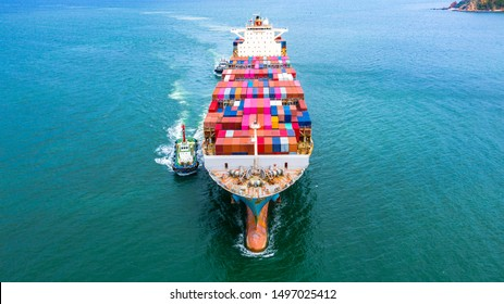 containers cargo shipping import and export business transportation logistic international service.