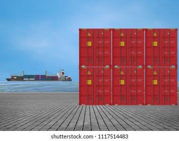 containers at dock side