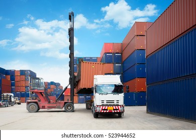 Containers in the port, Shipping & Transportation concept