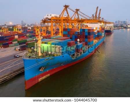 containers yard port congestion ship vessels stock photo edit now