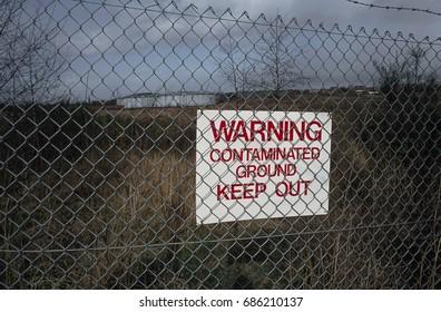 Contaminated land, site of former gas works, Wolverhampton, West Midlands, UK