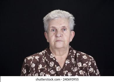 Contamination woman on black background
