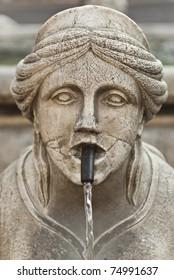 The Contarini fountain in the city of Bergamo Alta
