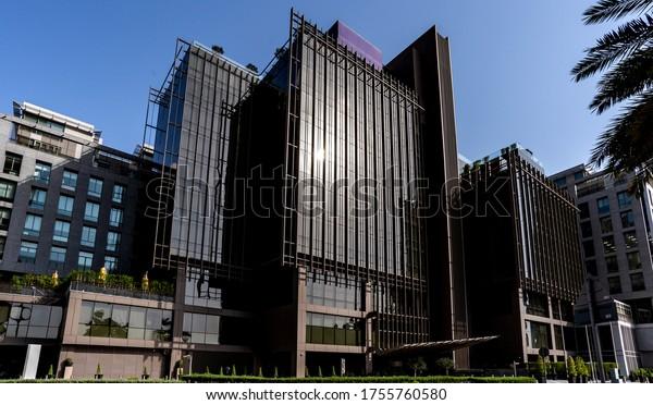 Contemporary 21st century corporate urban architecture