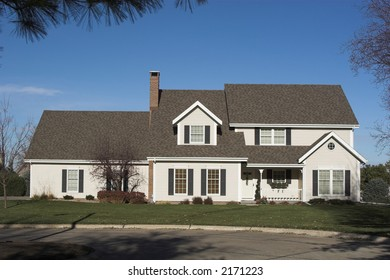 A contemporary 2-Story Executive Home-Front View