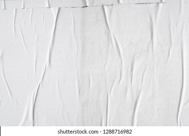 contemporary abstract glued white pearly poster glued to exposed wall background