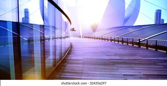 Contemporary Building Exterior Skyscraper Design Concept