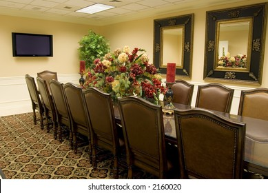 Contemporary, classic-style conference room (view #1)