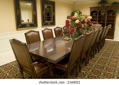 Contemporary, classic-style conference room (view #2)