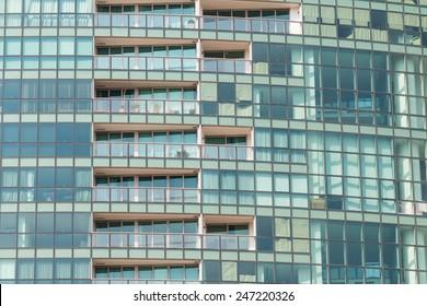 Contemporary condominiums pattern background