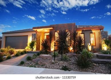 contemporary design house facade