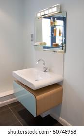 A contemporary designer ensuite in a new property development