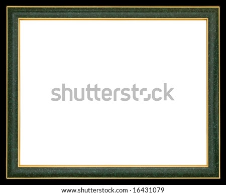 Contemporary Frame Green Gold Borders Stock Photo Edit Now
