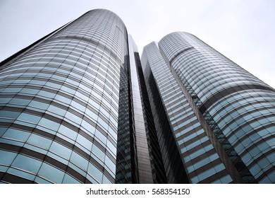 Contemporary high-rise buildings in Hong Kong - China