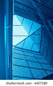 Contemporary hi-tech building detail