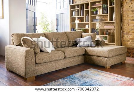 Contemporary Living Room Sofa Stock Photo (Edit Now) 700342072 ...
