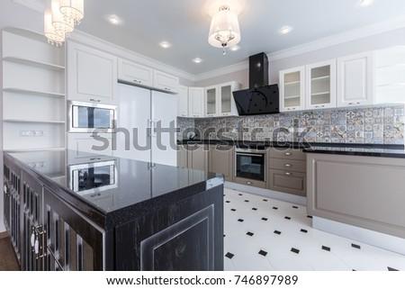 Contemporary Luxury Kitchen Design Brand New Stock Photo Edit Now