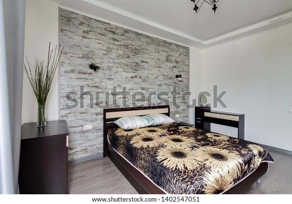 Contemporary Master Bedroom Interior Natural Tones Stock Photo Edit Now 1402547051