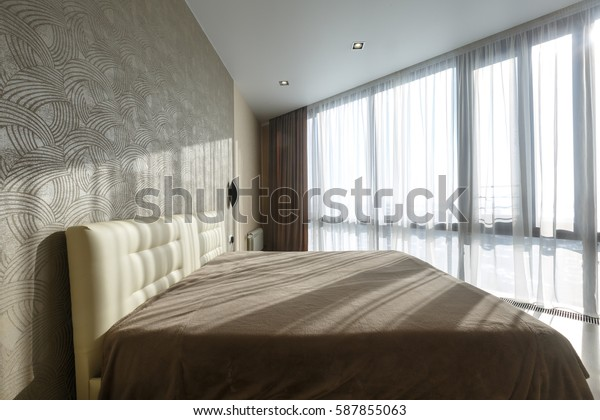 Contemporary Master Bedroom Luxurious Apartment Downtown ...