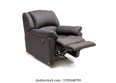 Contemporary, modern recliner, electrical recliner upholstered with Leather