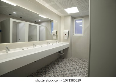 Contemporary Public Restroom