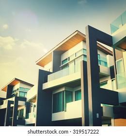 Contemporary Residential Building Exterior Concept