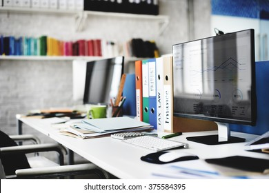 Contemporary Room Workplace Office Supplies Concept
