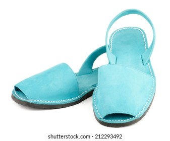 cc87e374da9 Contemporary Turquoise Shammy Men Sandals isolated on white background