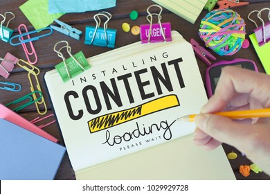 Content / Business marketing strategy ideas concept background