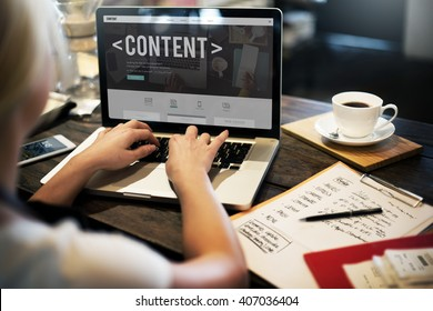 Content Data Blogging Media Publication Concept