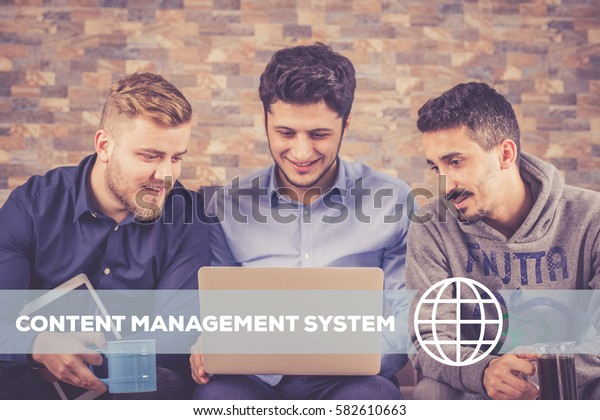 Content Management System Technology Concept