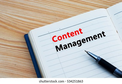 Content Management text written on a diary