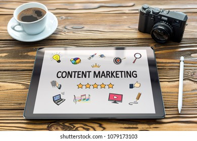 Content Marketing Concept on Digital Tablet Screen